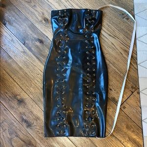 Latex fitted dress